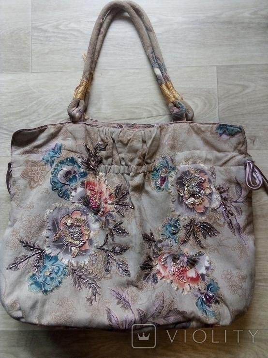 Винтажная расшитая сумка Accessorize, фото №13
