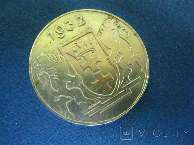 5 гульденов Данциг 1932(копия)., фото №4