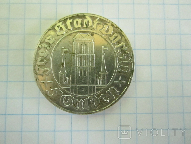 5 гульденов Данциг 1932(копия)., фото №10