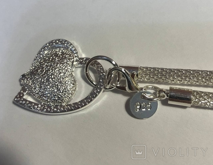 Кулон сердце серебро 925, фото №2
