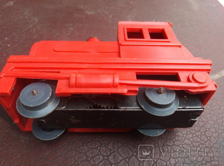 Игрушка поезд красний СССР, фото №3