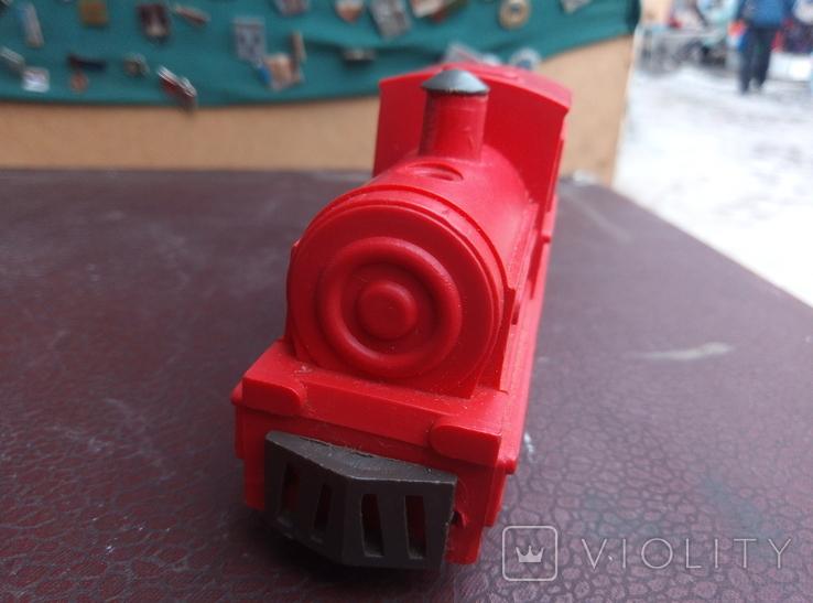 Игрушка поезд красний СССР, фото №4