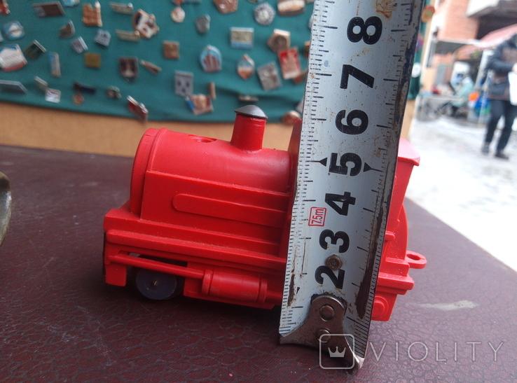 Игрушка поезд красний СССР, фото №5