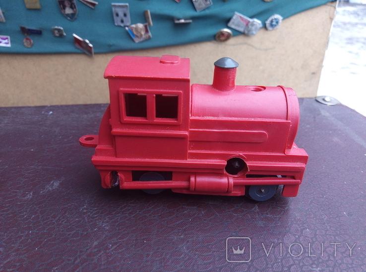 Игрушка поезд красний СССР, фото №7