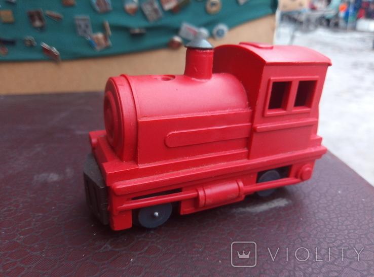 Игрушка поезд красний СССР, фото №2