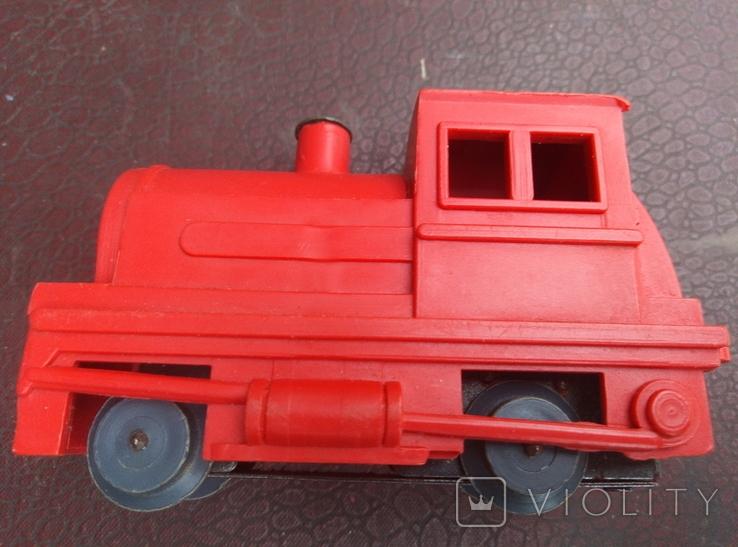 Игрушка поезд красний СССР, фото №11