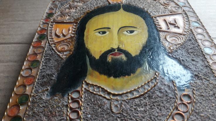 Икона Иисус Христос. ( дерево. ручная работа), фото №7