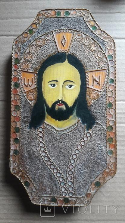 Икона Иисус Христос. ( дерево. ручная работа), фото №2