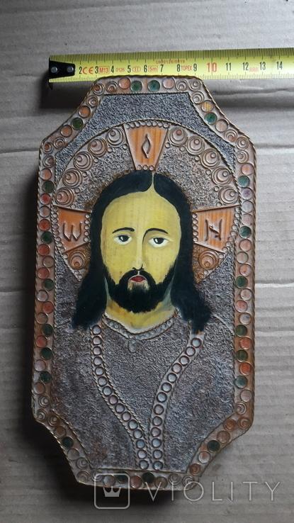 Икона Иисус Христос. ( дерево. ручная работа), фото №12