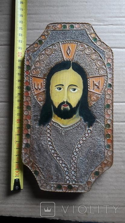 Икона Иисус Христос. ( дерево. ручная работа), фото №13