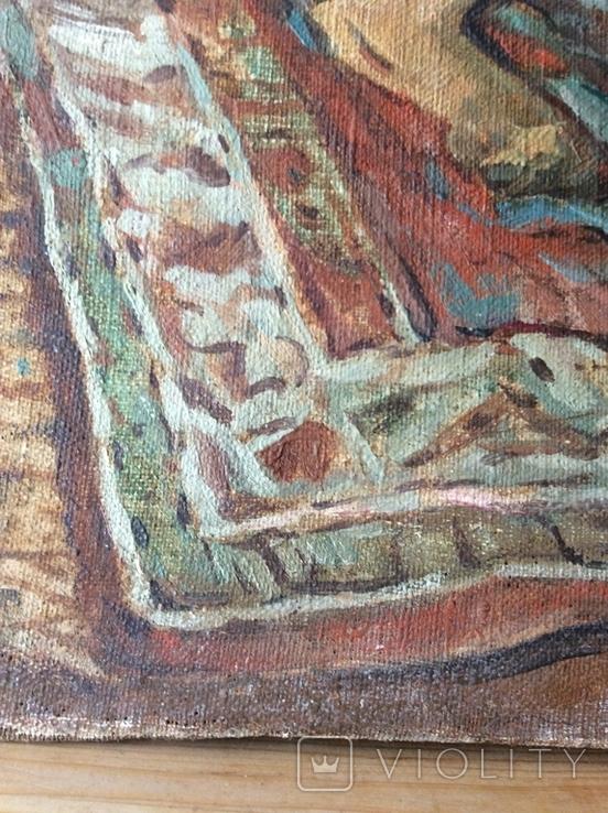 Картина В мастерской художника копия ,старая, фото №5