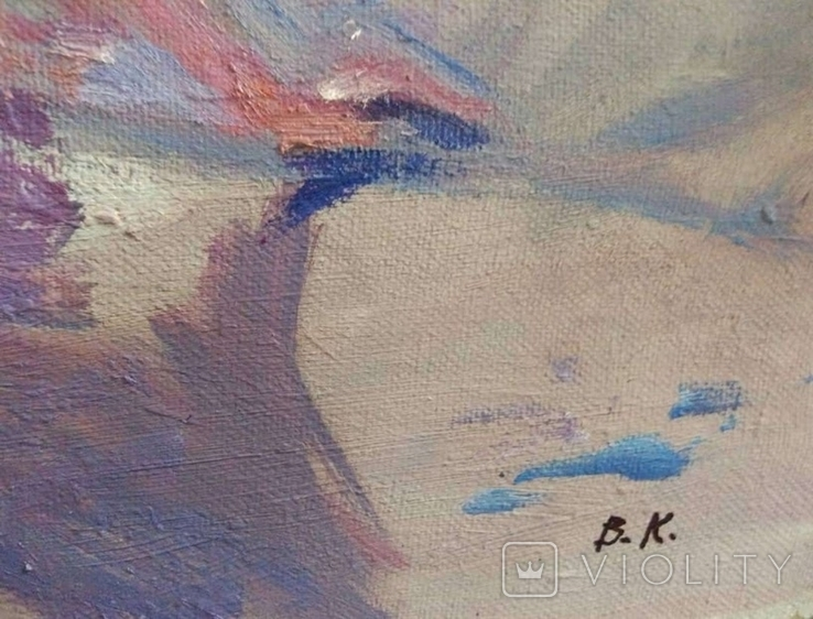 "1990,Кнышевский В.""На пляже"",х.м.40*65см, фото №5"