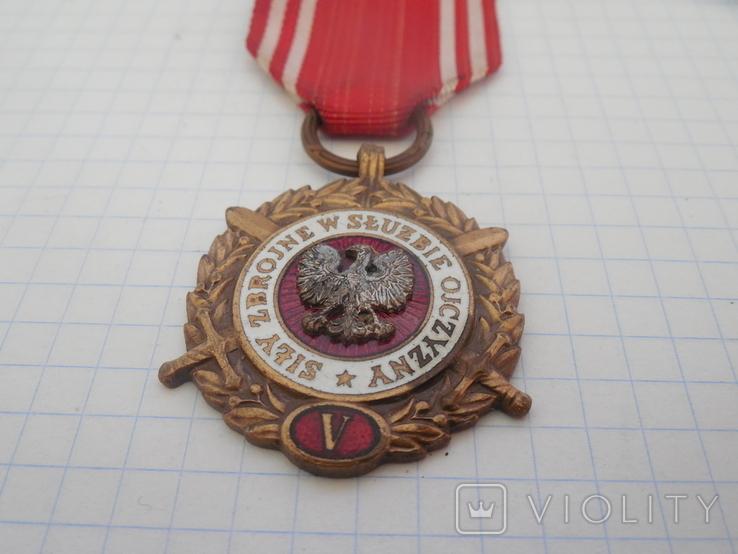 Медаль Вооруженные силы на службе Родине Польша, фото №4