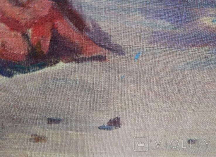 "1984,Кнышевский В.""У моря"".х.м.40*66см, фото №8"