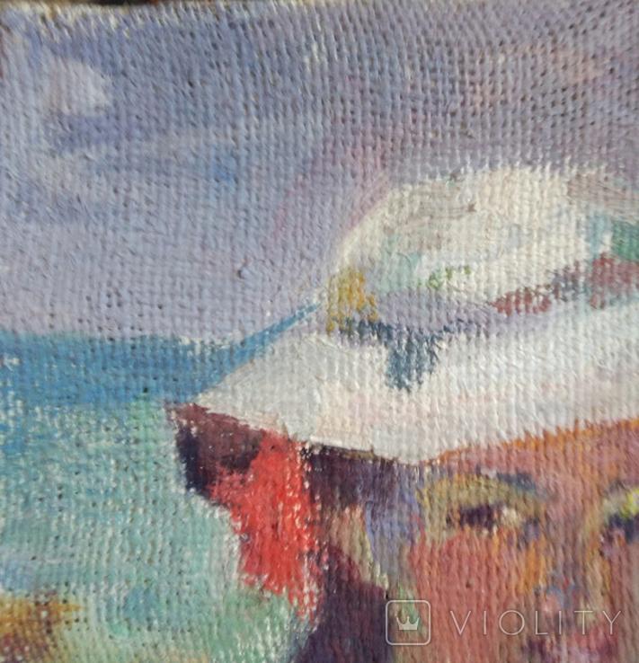 "1985,Кнышевский В.""У моря"",х.м.28*28см, фото №3"