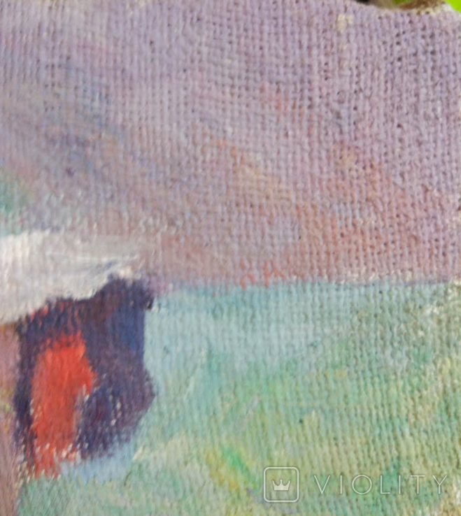 "1985,Кнышевский В.""У моря"",х.м.28*28см, фото №4"