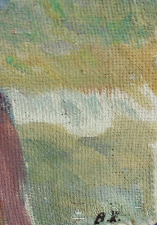 "1985,Кнышевский В.""У моря"",х.м.28*28см, фото №6"