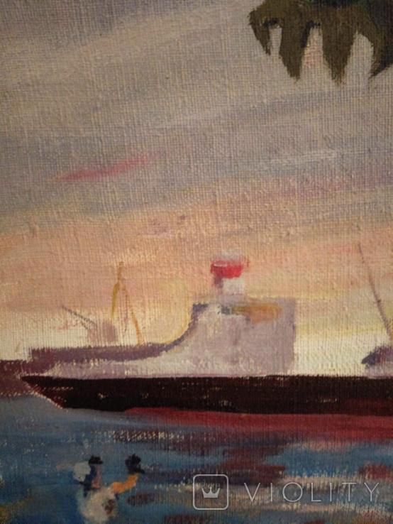 """1982,Кнышевский В.""""Северный порт"""",х.м.46*40см, фото №5"""