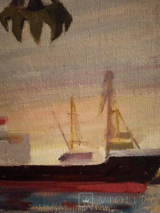 """1982,Кнышевский В.""""Северный порт"""",х.м.46*40см, фото №6"""
