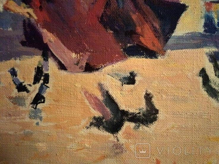 """1990,Кнышевский В.""""В сквере"""",х.м.40*65см, фото №8"""