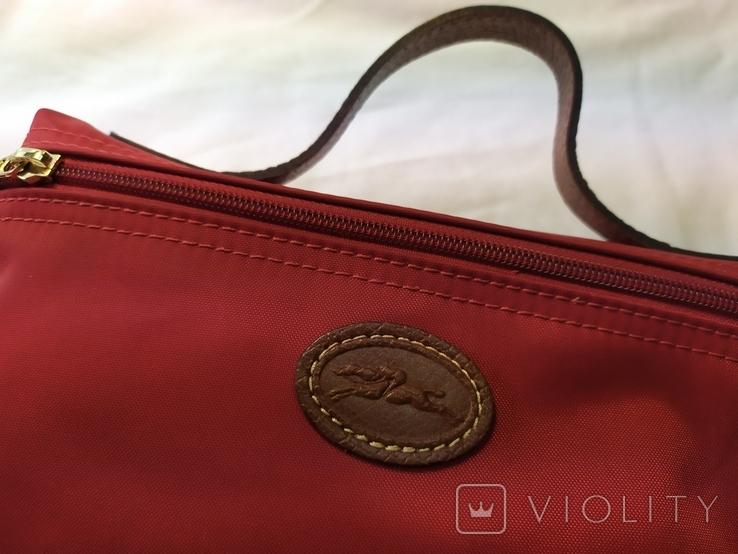 Фирменная косметичка или маленькая сумочка Longchamp. Англия. Новая. 22х13 без ручки, фото №3