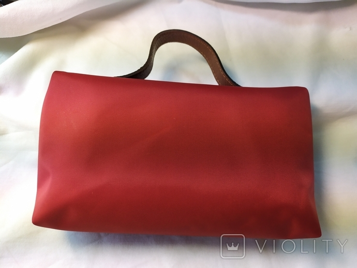 Фирменная косметичка или маленькая сумочка Longchamp. Англия. Новая. 22х13 без ручки, фото №6