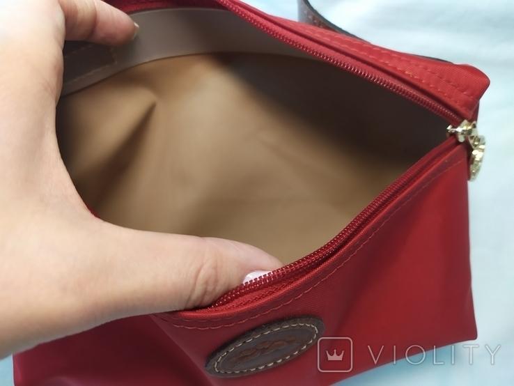 Фирменная косметичка или маленькая сумочка Longchamp. Англия. Новая. 22х13 без ручки, фото №8