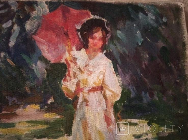 """1985,Кнышевский В.""""В парке"""",х.м.41*57см, фото №3"""