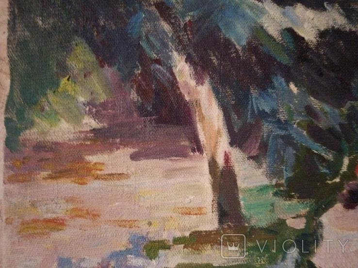 """1985,Кнышевский В.""""В парке"""",х.м.41*57см, фото №4"""