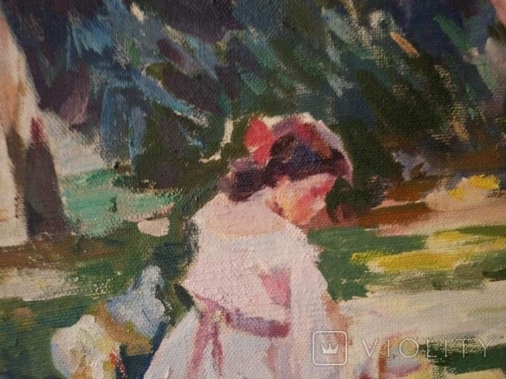 """1985,Кнышевский В.""""В парке"""",х.м.41*57см, фото №5"""