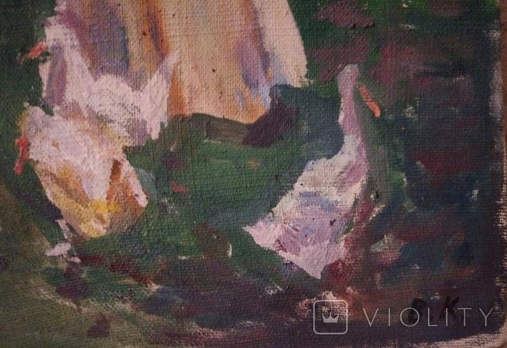 """1985,Кнышевский В.""""В парке"""",х.м.41*57см, фото №9"""