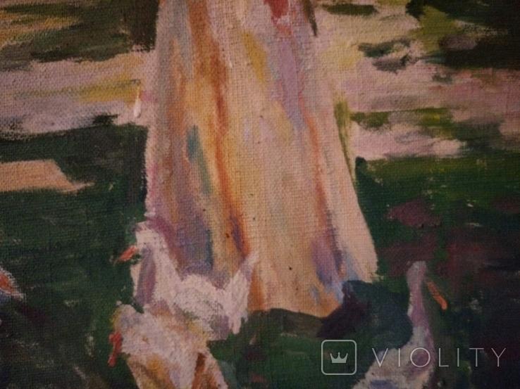 """1985,Кнышевский В.""""В парке"""",х.м.41*57см, фото №10"""