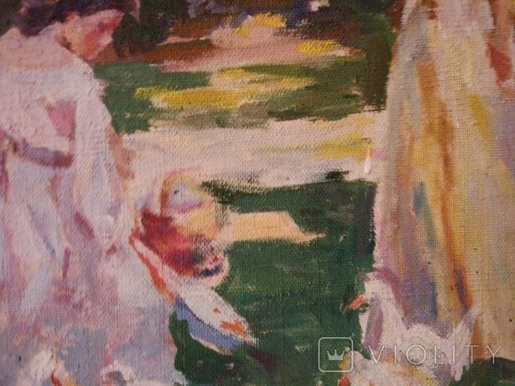 """1985,Кнышевский В.""""В парке"""",х.м.41*57см, фото №11"""