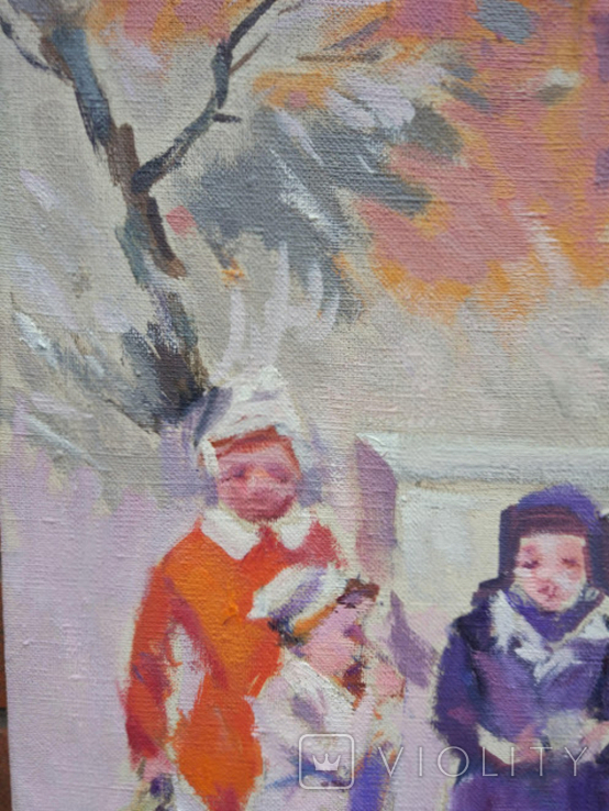 """1985,Кнышевский В.""""Зима"""",х.м.44*54см, фото №7"""