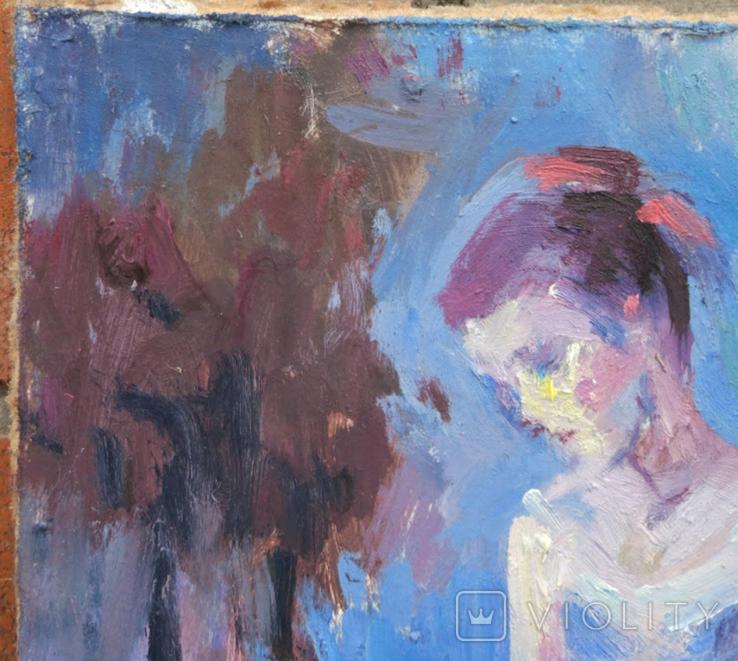 """1982,Кнышевский В.""""Перед выступлением"""",орг.м.31*20см, фото №3"""