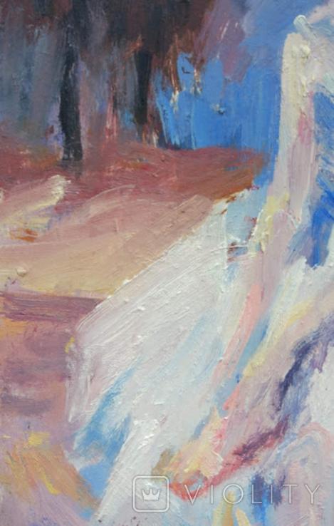 """1982,Кнышевский В.""""Перед выступлением"""",орг.м.31*20см, фото №6"""