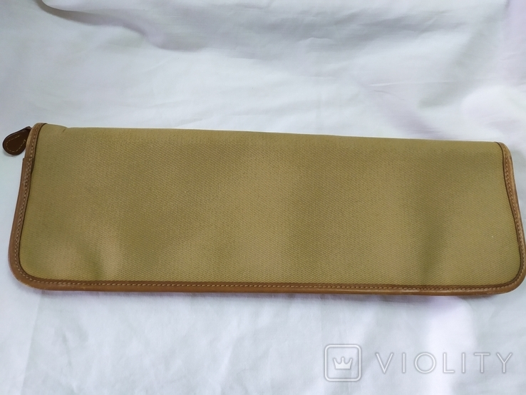 Фирменная номерная сумочка для галстуков Original Ghurka Bag 43. №L410. 40,5х13см., фото №9