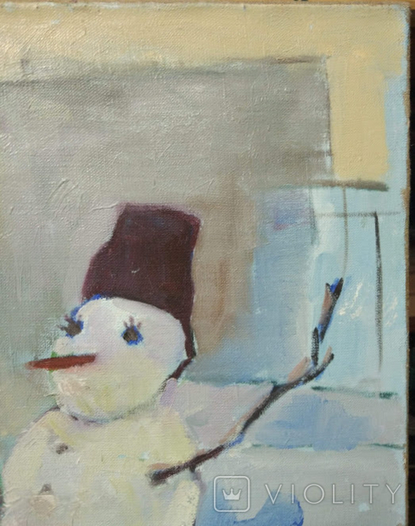 """Картина """"Снеговик"""",х.м.60*50см, фото №3"""