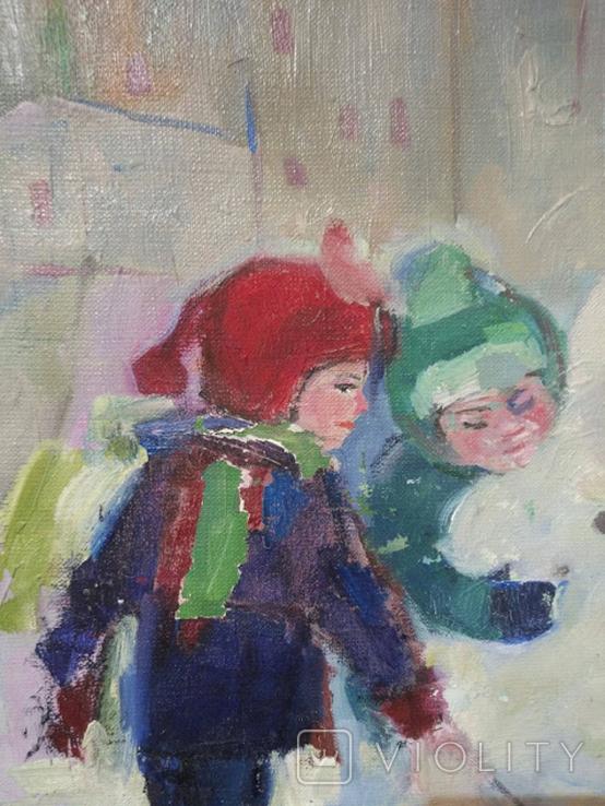 """Картина """"Снеговик"""",х.м.60*50см, фото №5"""