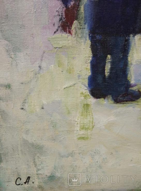 """Картина """"Снеговик"""",х.м.60*50см, фото №7"""