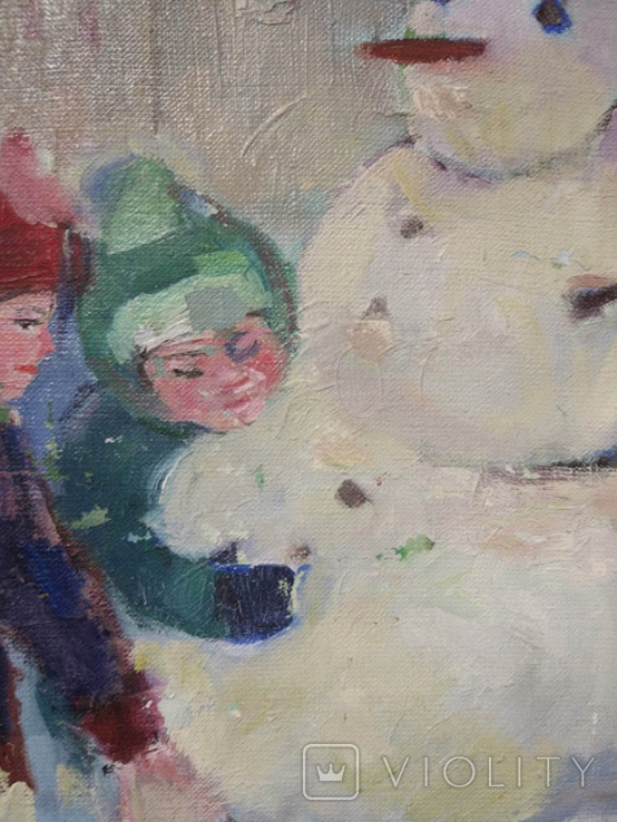"""Картина """"Снеговик"""",х.м.60*50см, фото №10"""