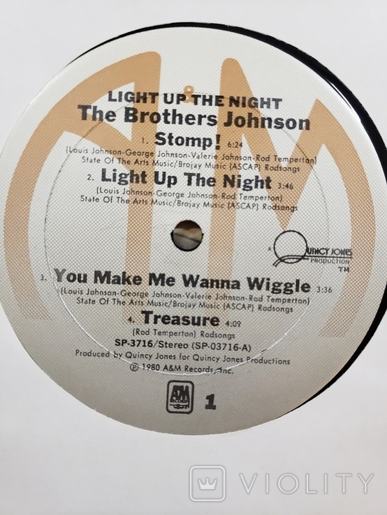 "Платівка. Funk / Soul. ""The Brothers Johnson* Light Up The Night"" Gatefold, фото №7"