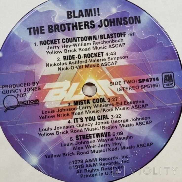 """Платівка. Funk / Soul. """"Brothers Johnson Blam!!"""" Gatefold, фото №6"""