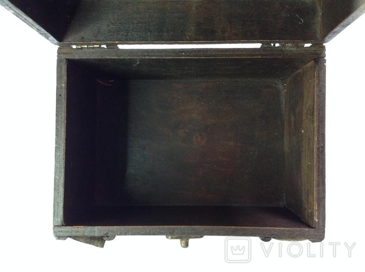 Сундучок шкатулка из натурального дерева 13х20х14,5, фото №5