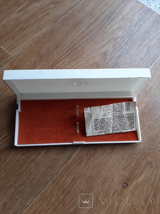 Коробок от ручек з золотым пером с паспортом, фото №2