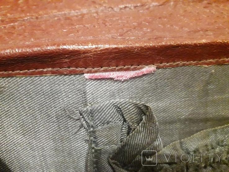 Клатч винтаж тиснённая кожа 50-е,, фото №7