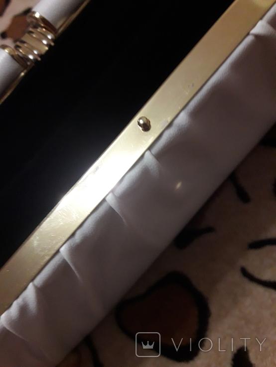 Белый клатч Salisburys Англия с чехлом для хранения, фото №12