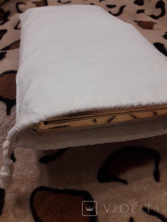 Белый клатч Salisburys Англия с чехлом для хранения, фото №13