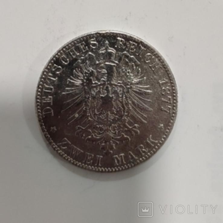 2 марки Саксония 1877, фото №3