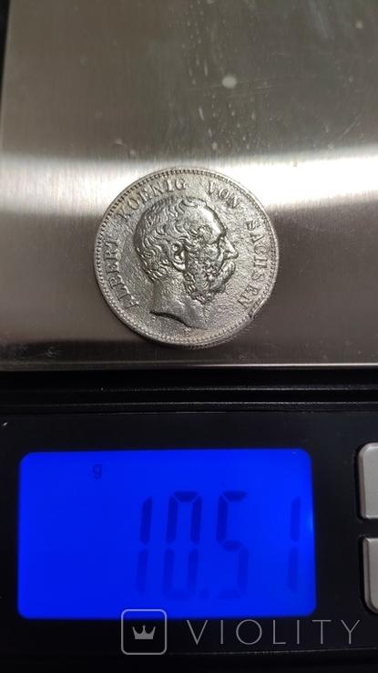 2 марки Саксония 1877, фото №7